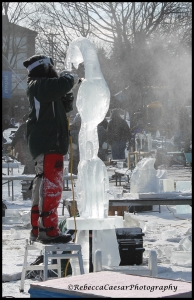 Ice carving competition.