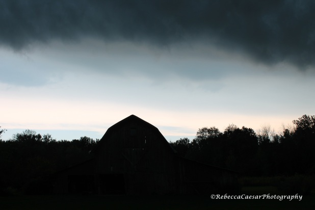 Dark Clouds Over Barn