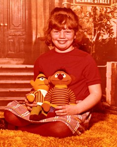 Me holding my two favorite Sesame Street characters. I was about 8 years old.