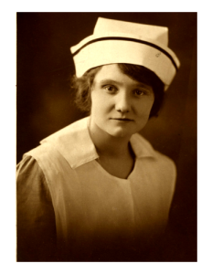 Flossie was a surgical nurse. She was trained after witnessing my grandfather getting hurt. The doctor thought she handled herself well and suggested the medical field. She was born in 1899.